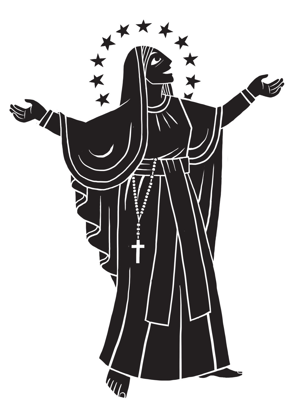 An illustration of Mary Mother of God