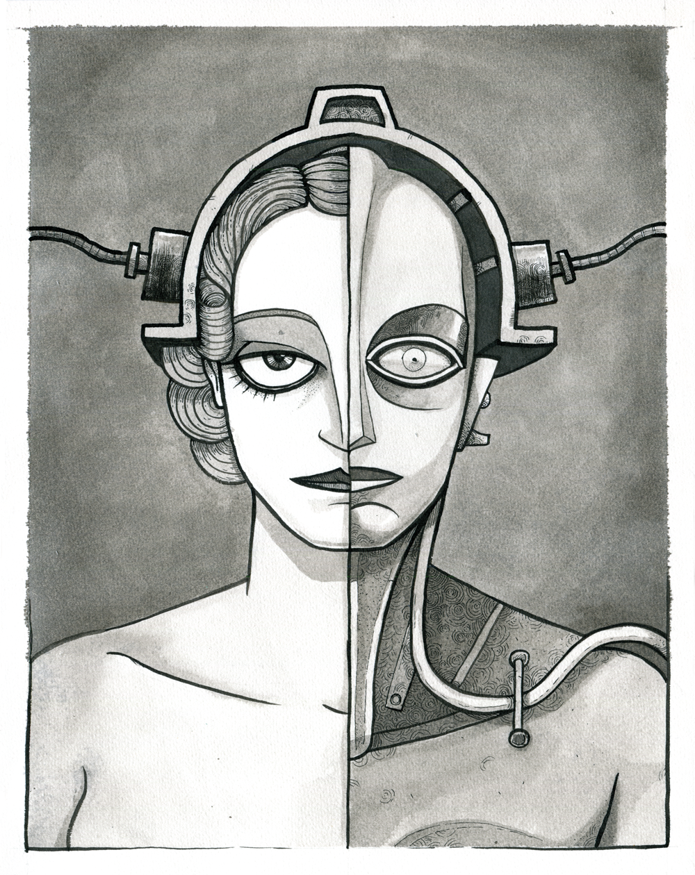 An image of Maria and the robot from Metropolis