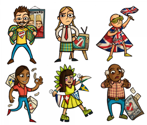 eurovision song contest cartoon characters