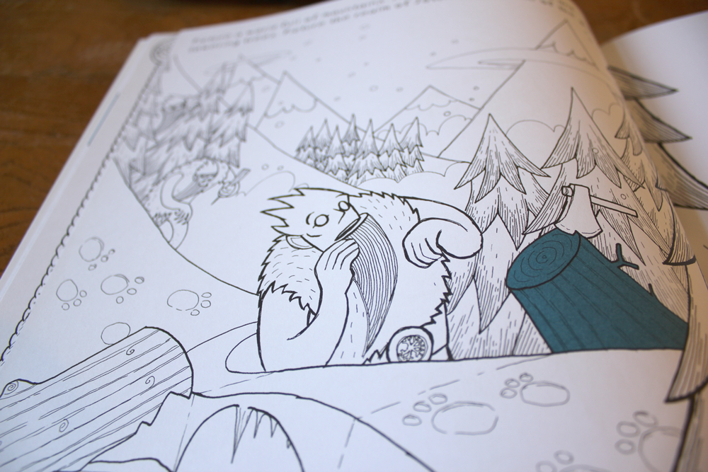 colouring illustration of a frost giant from norse mythology