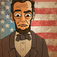 "alt=""an illustrated portrait of abaraham lincoln"""
