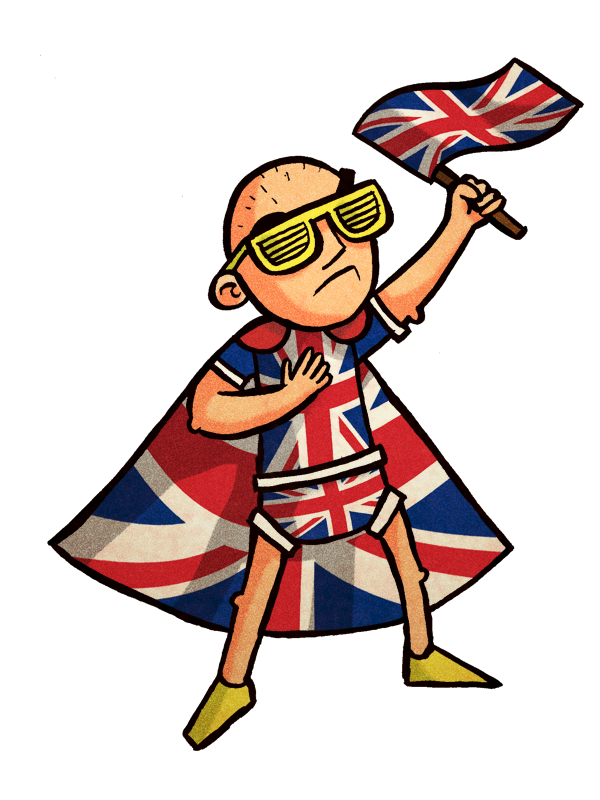 an image of a Eurovision british patriot